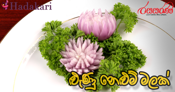 Vegetable Carving - Onion Lotus