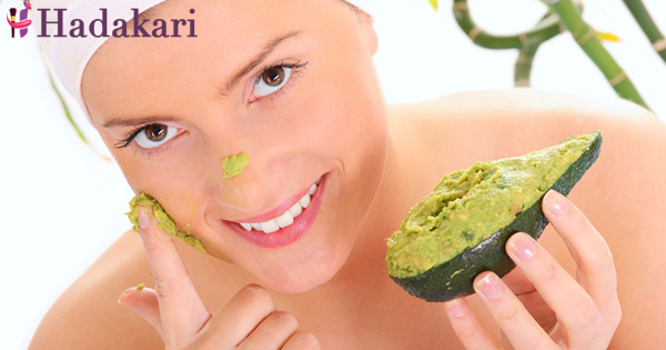 Super face masks with avocado