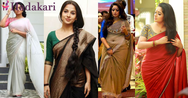 How to choose a saree to look thinner
