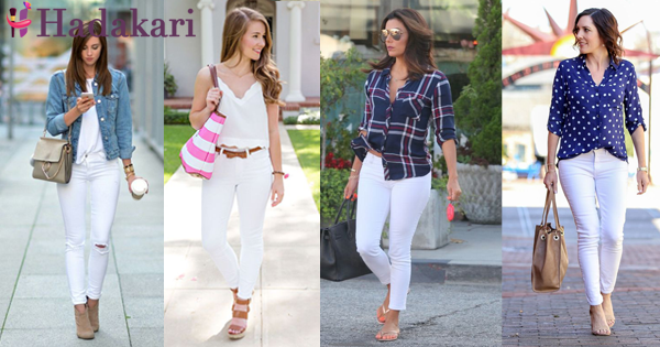 Style tips to wear white jeans