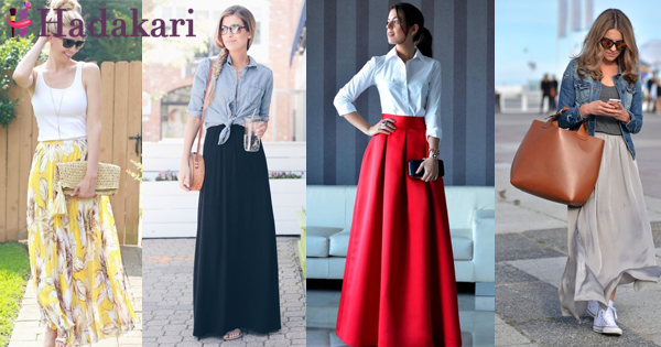 How to wear a maxi skirt stylish