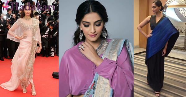 Sonam Kapoor Saree fashions that you also can try